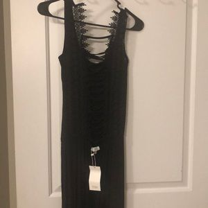 Omg black lace up dress